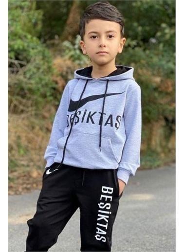 Riccotarz Erkek Çocuk Bjk Taraftar Kapşonlu Eşofman Takım Siyah